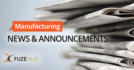 Manufacturing News and Announcements logo on image of stack of newspapers