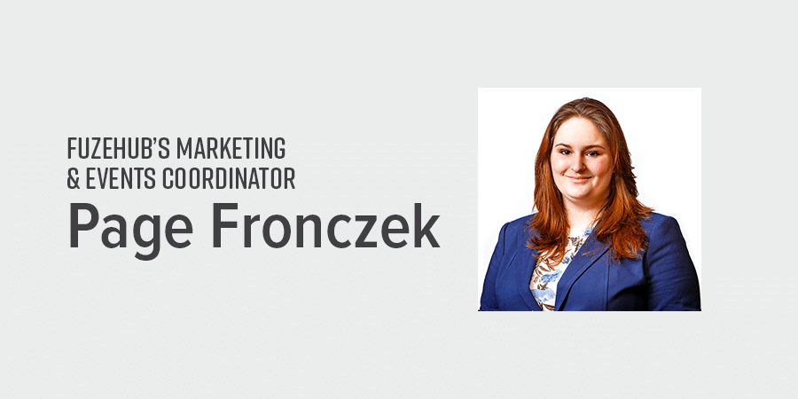 FuzeHub's Marketing and Events Coordinator, Page Fronczek