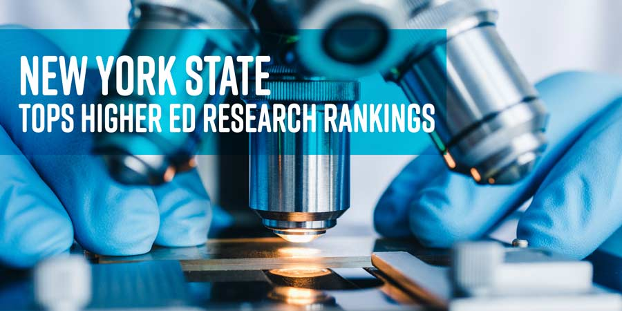 NYS tops higher ed research rankings, an image of a telescope