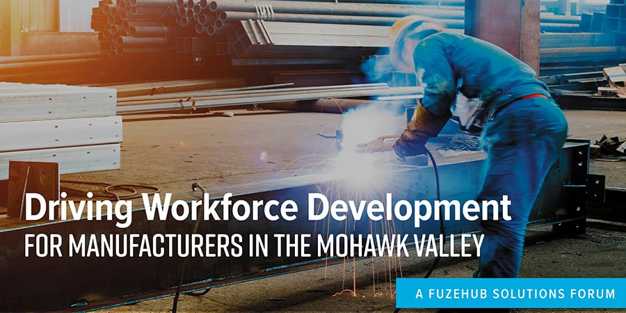 Driving Workforce Development for Manufacturers in the Mohawk Valley, a man welding